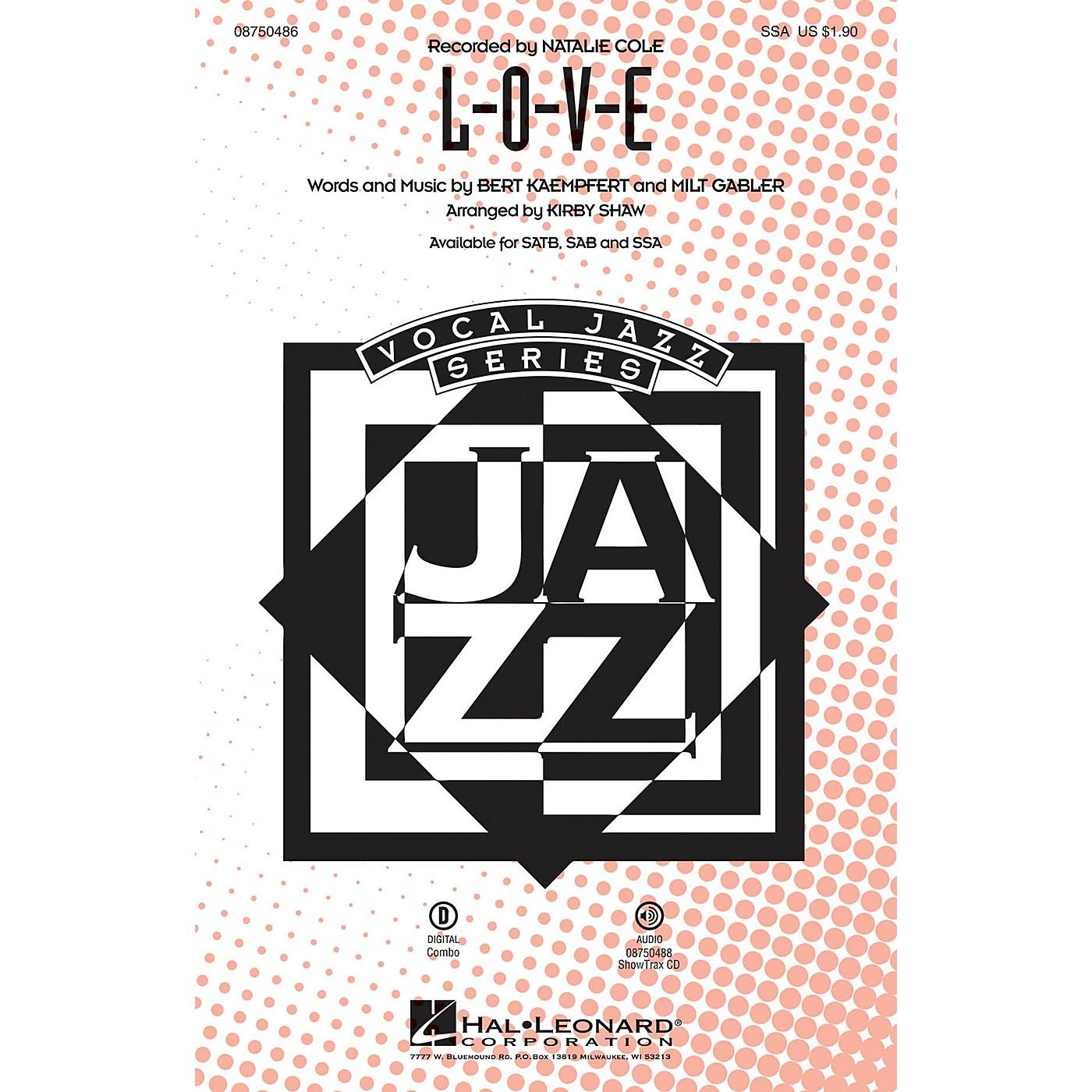 Hal Leonard L-O-V-E SSA arranged by Kirby Shaw thumbnail