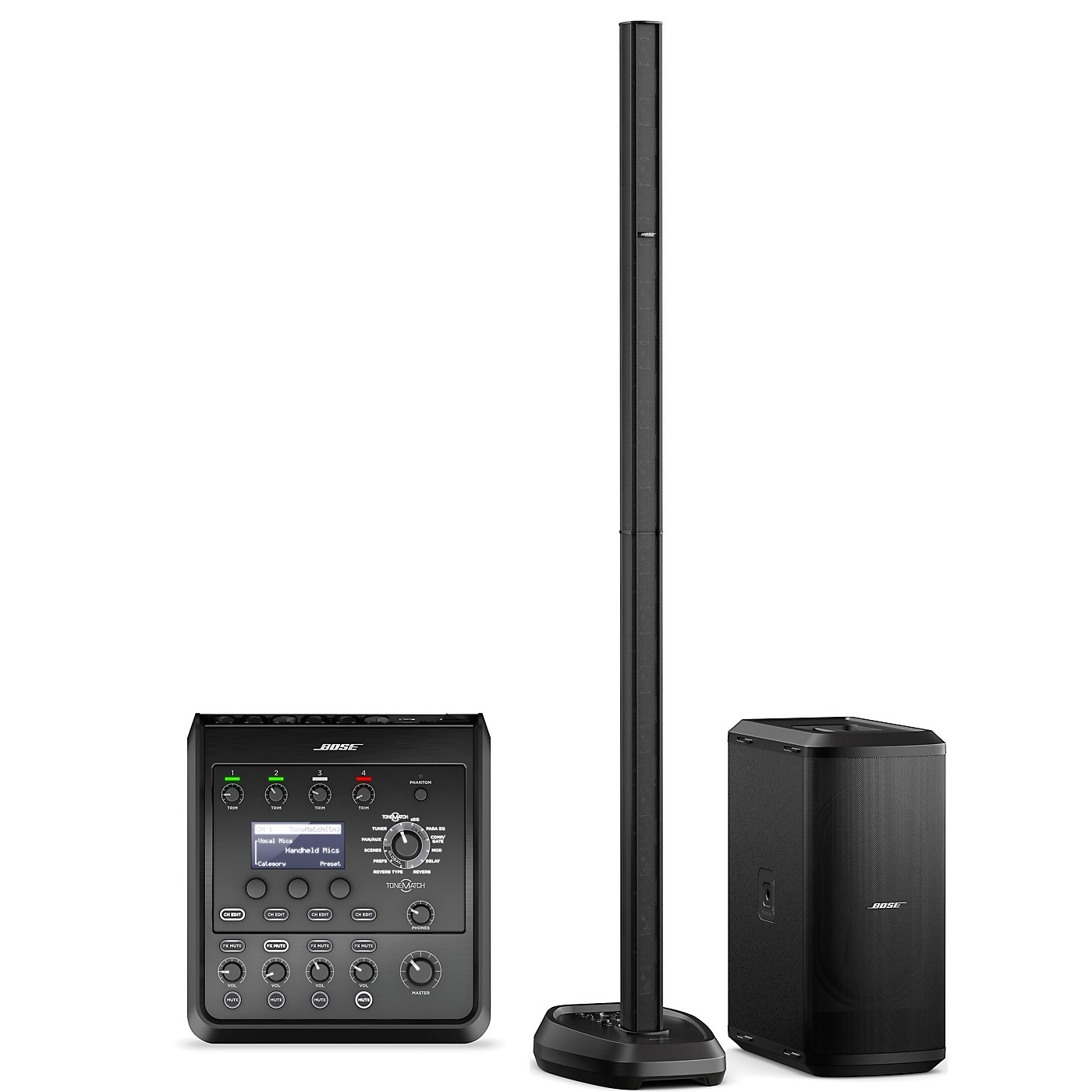 Bose L1 Pro32 Portable PA With Sub2 Powered Bass Module and T4S Audio Engine thumbnail