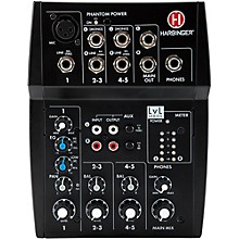Harbinger L502 5-Channel Mixer with XLR Mic Preamp