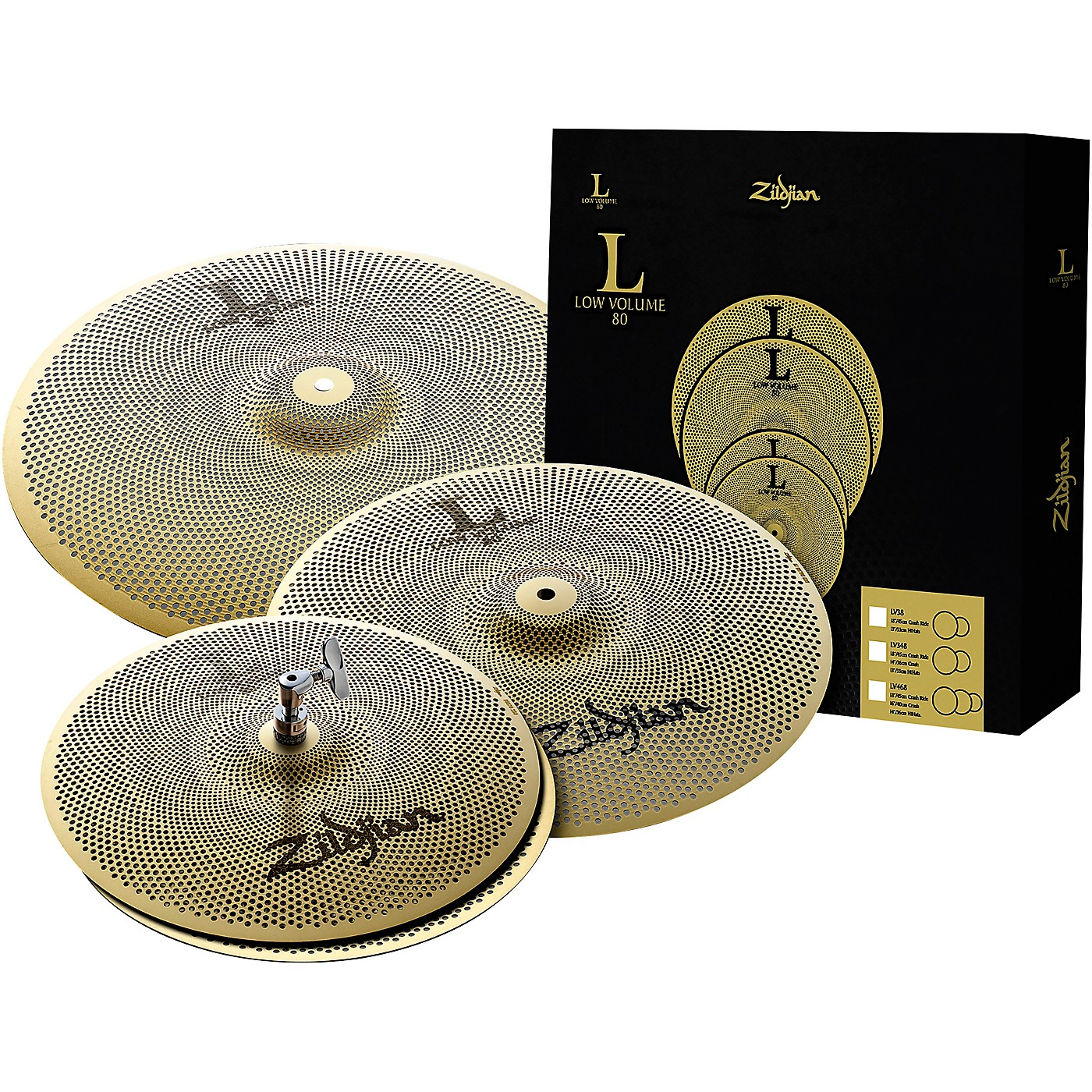 Zildjian L80 Series LV468 Low Volume Cymbal Box Pack thumbnail