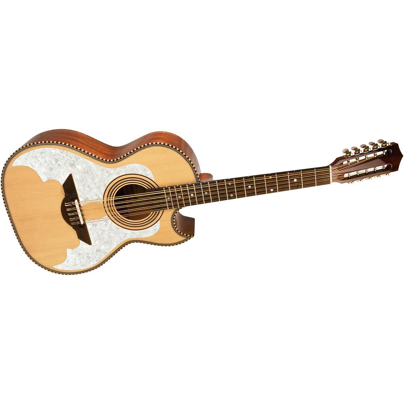 H. Jimenez LBQ3E El Murcielago (The Bat) Full Body Bajo Quinto Acoustic-Electric Guitar thumbnail