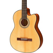 Lucero LC100CE Acoustic-Electric Cutaway Classical Guitar