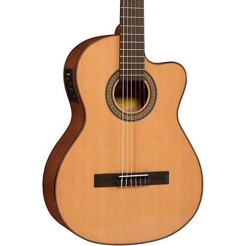 Lucero LC150Sce Spruce/Sapele Cutaway Acoustic-Electric Classical Guitar thumbnail