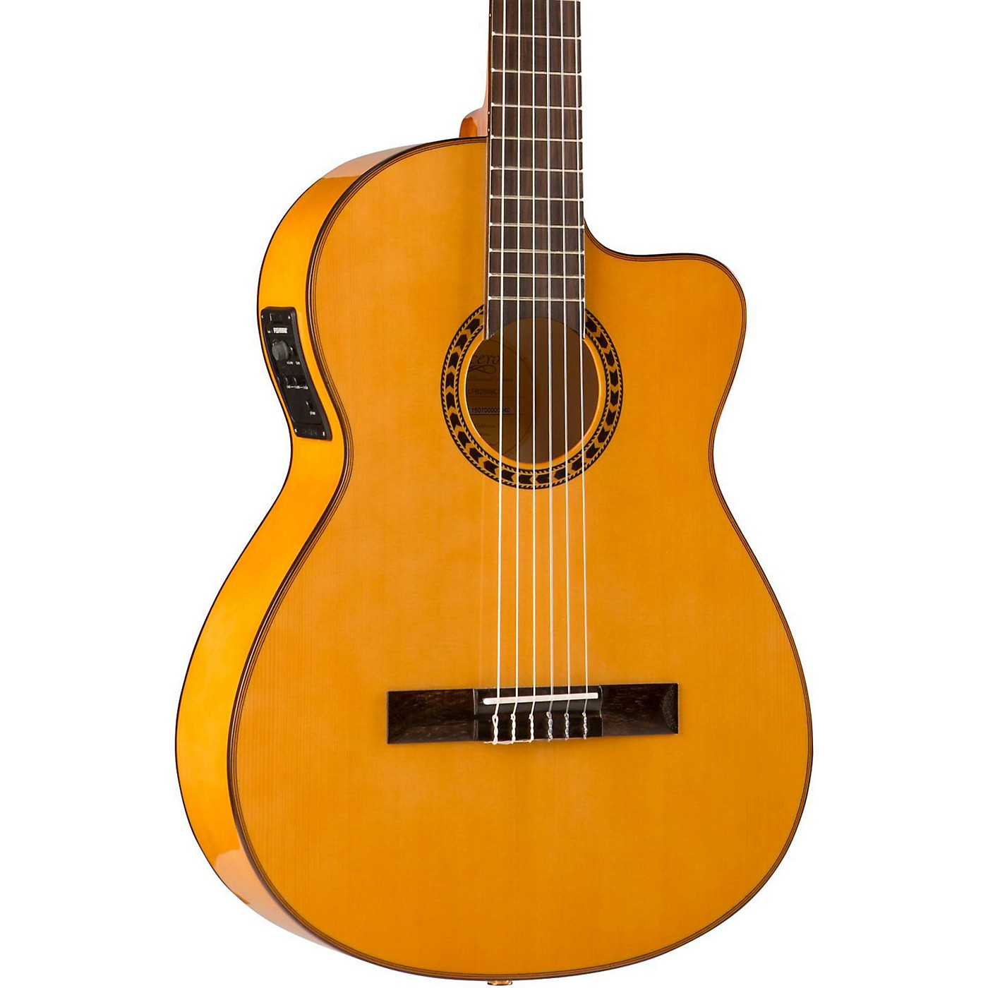 Lucero LFB250Sce Spruce/Cypress Thinline Acoustic-Electric Classical Guitar thumbnail