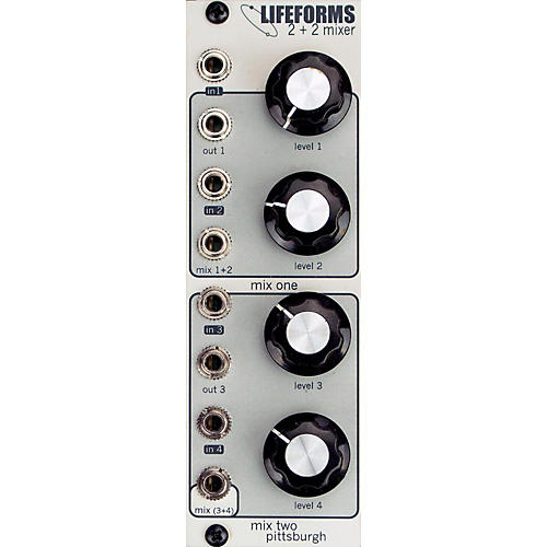 Pittsburgh Modular Synthesizers LIFEFORMS 2+2 MIXER thumbnail