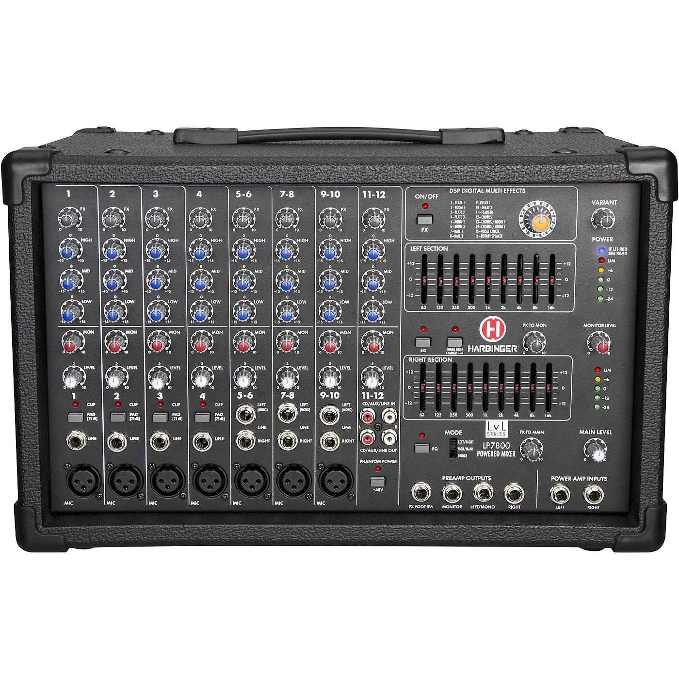 Harbinger LP7800 12-Channel Powered Mixer thumbnail