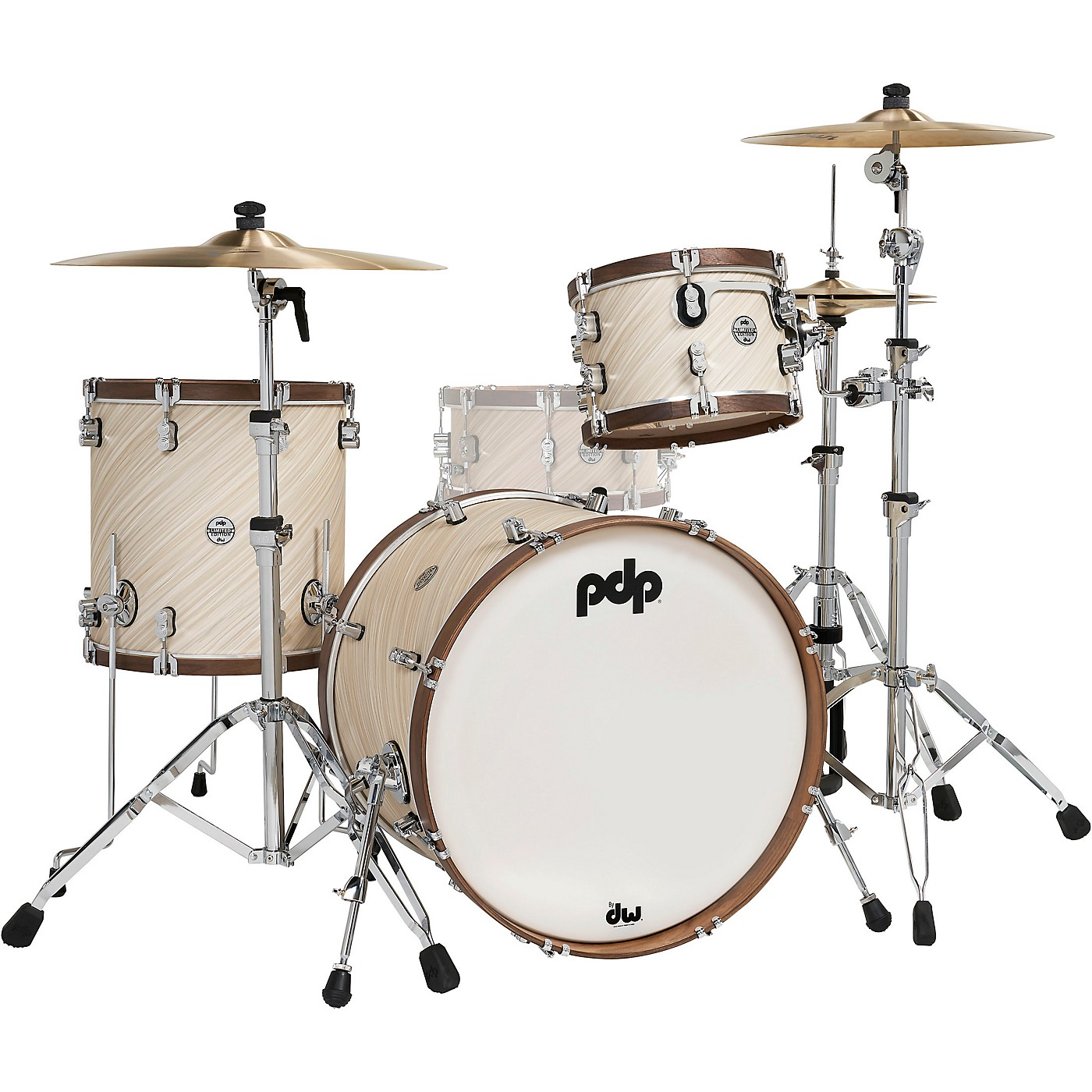 PDP by DW LTD Concept Maple 3-Piece Shell Pack With Walnut Hoops thumbnail