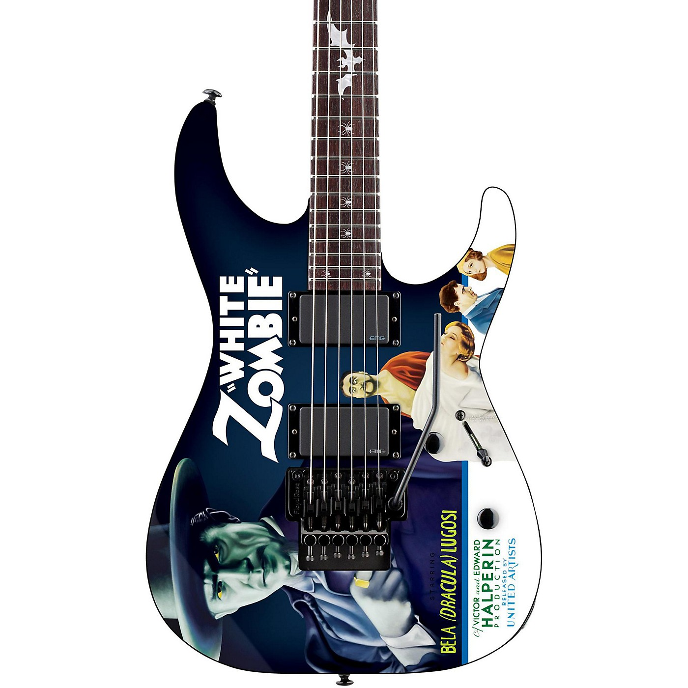 ESP LTD Kirk Hammett Signature White Zombie Electric Guitar thumbnail