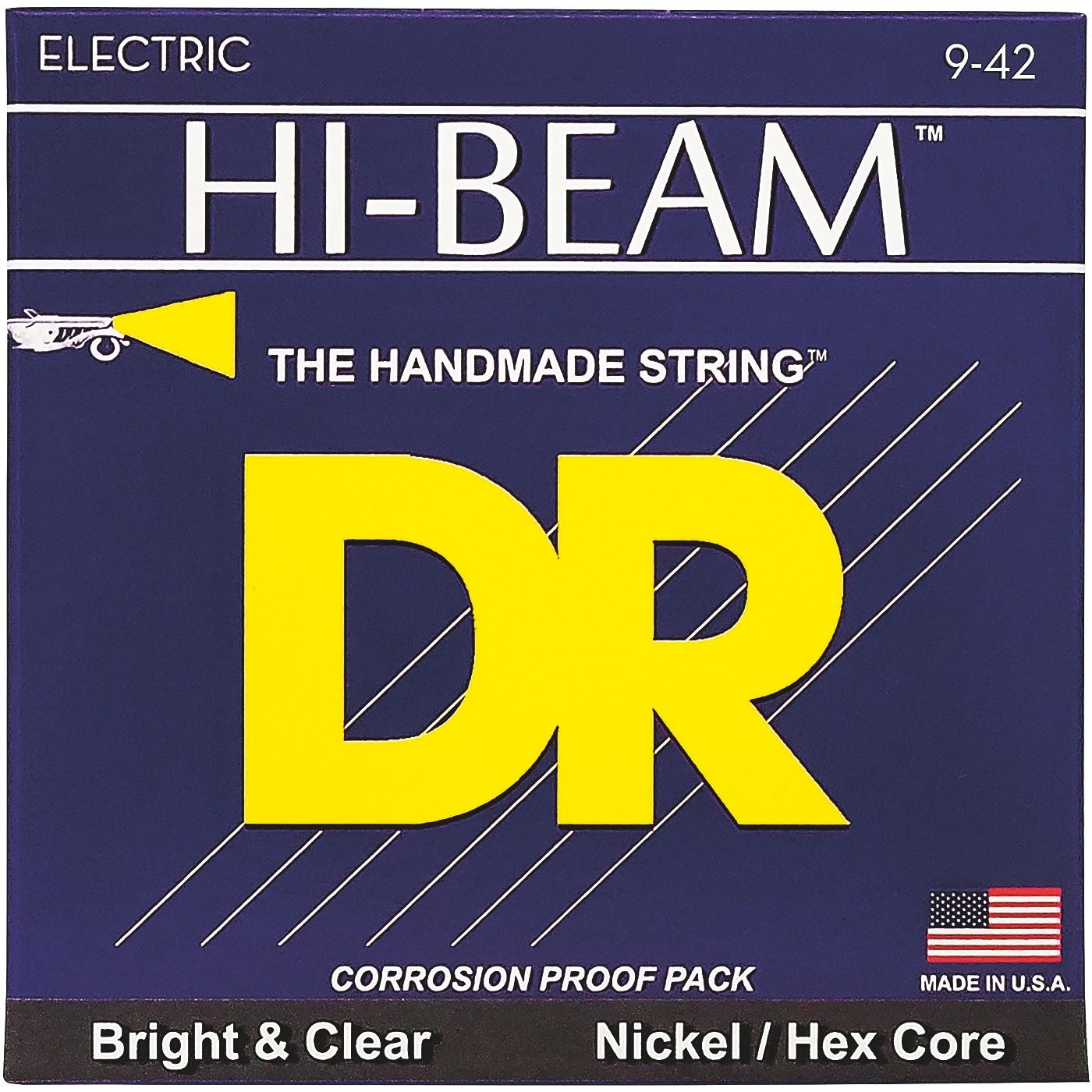 DR Strings LTR-9 Hi-Beam Nickel Light Electric Guitar Strings thumbnail