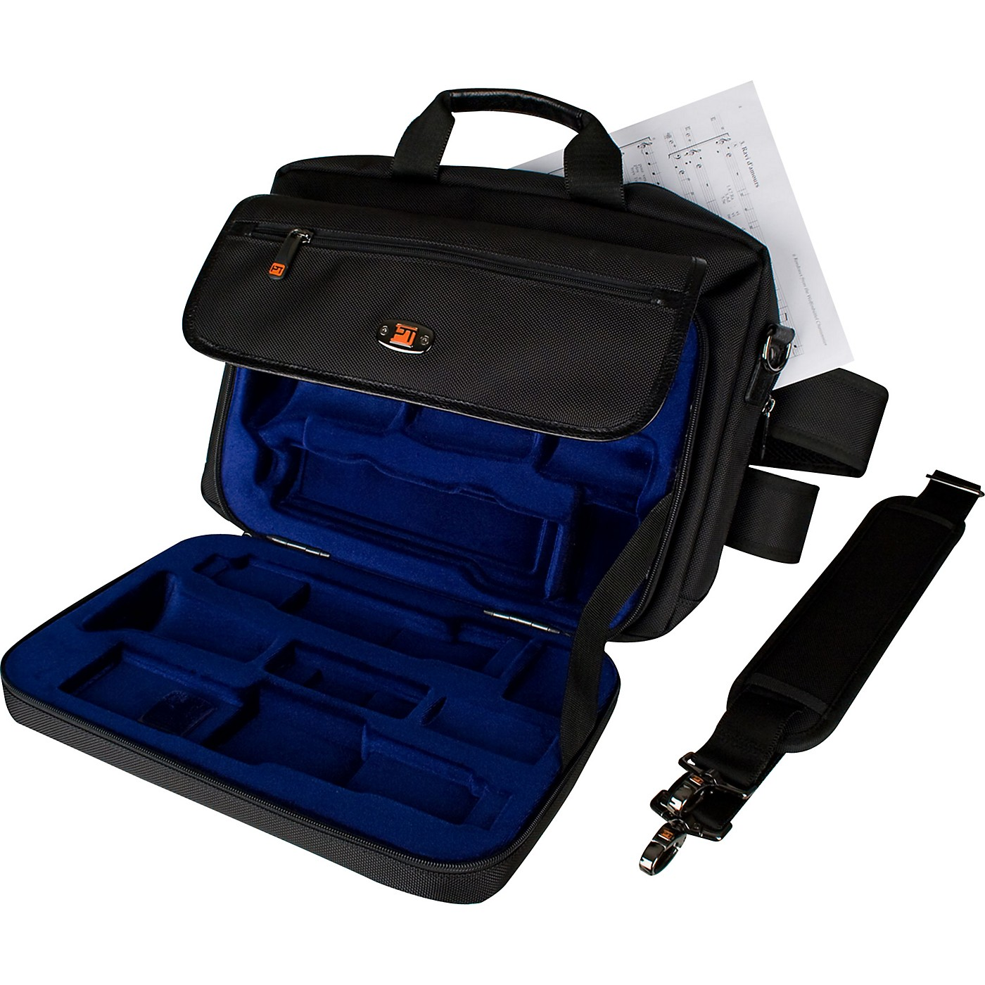 Protec LUX Clarinet Case with Sheet Music Messenger Bag thumbnail