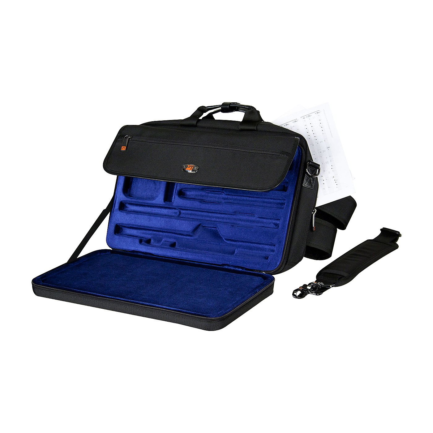 Protec LUX Flute and Piccolo Case with Sheet Music Messenger Bag thumbnail