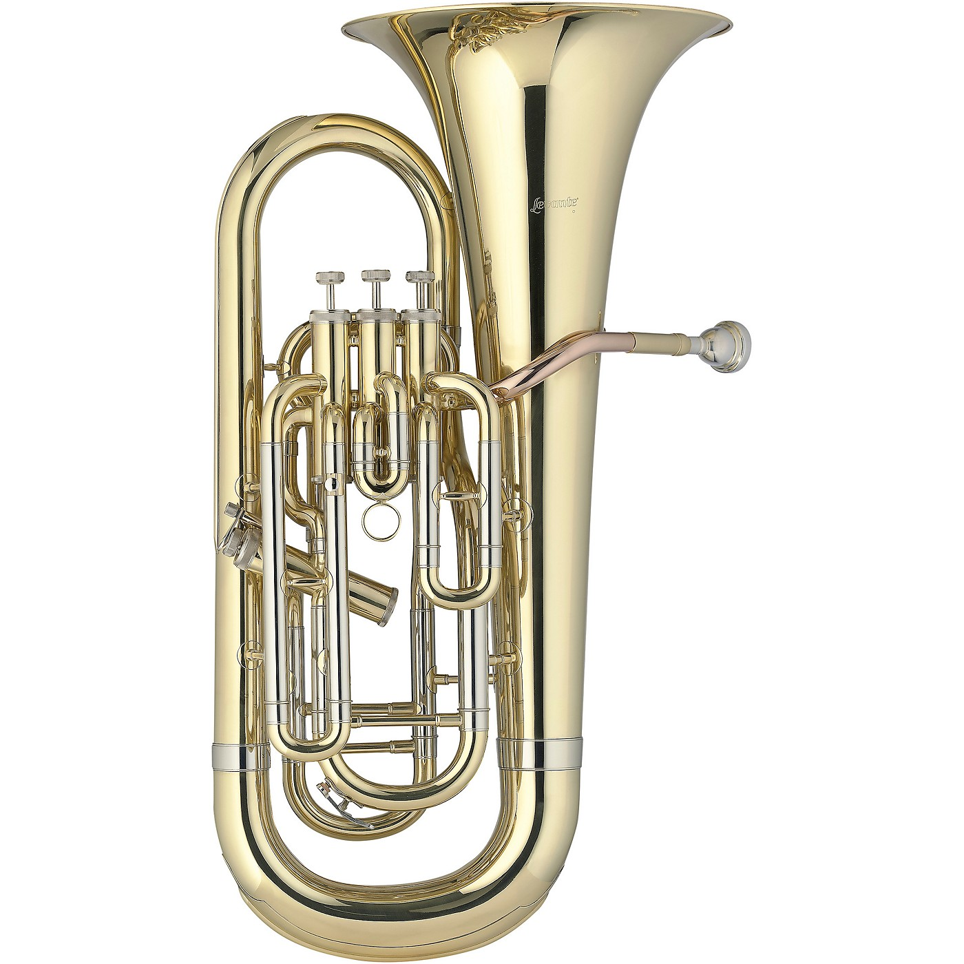 Levante LV-BH5411 Professional Bb Baritone Horn with 4 Monel Pistons - Gold Trim Kit thumbnail