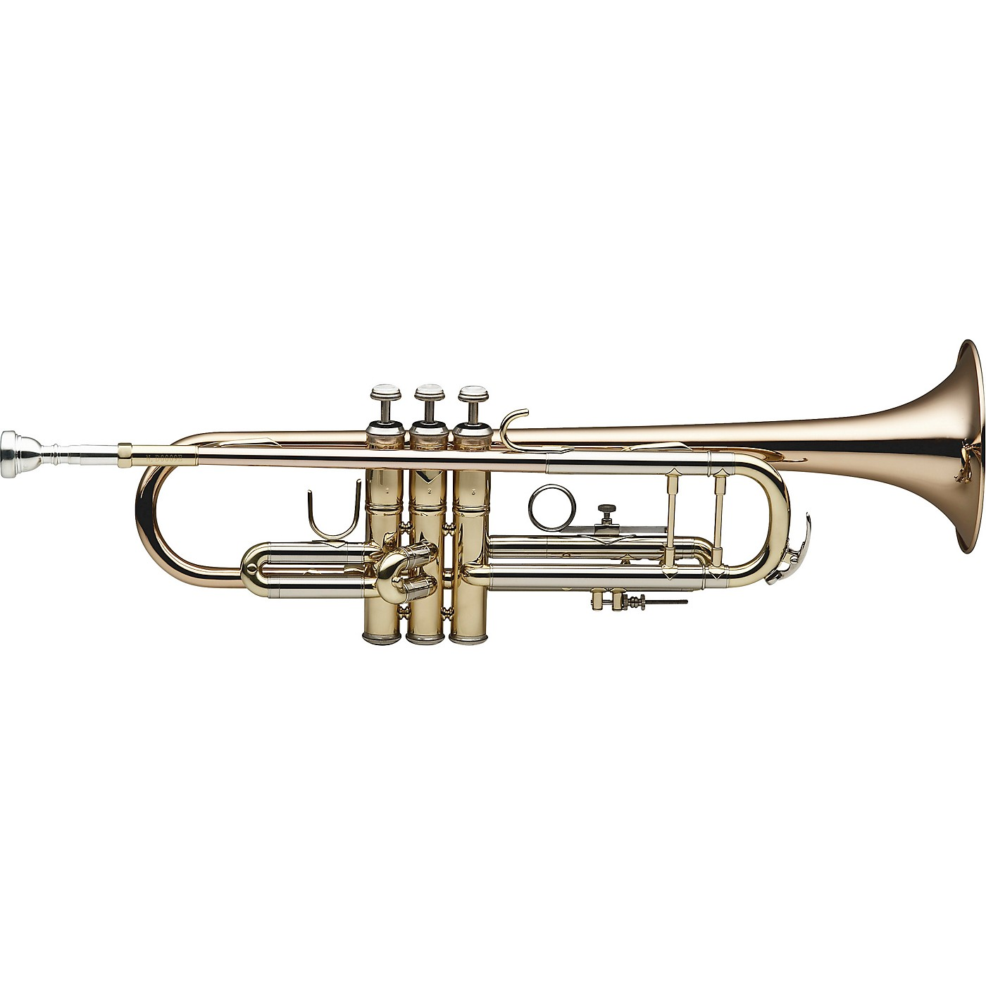 Levante LV-TR6305 Bb Professional Trumpet with Monel Valves - Gold Brass thumbnail