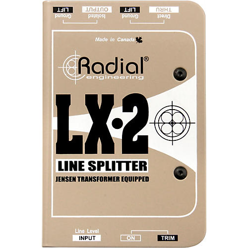 Radial Engineering LX-2 Line-Level Splitter and Attenuator thumbnail