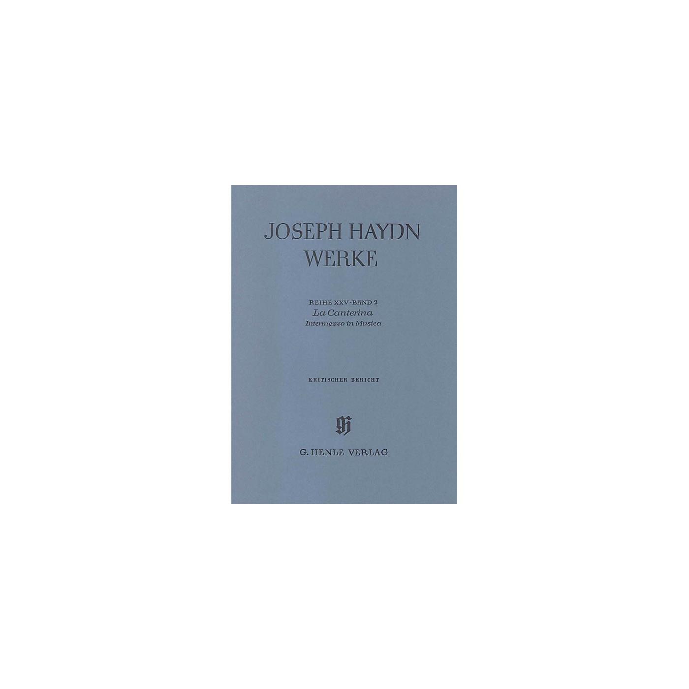 G. Henle Verlag La Canterina - Intermezzo in Musica Henle Edition Series Hardcover thumbnail