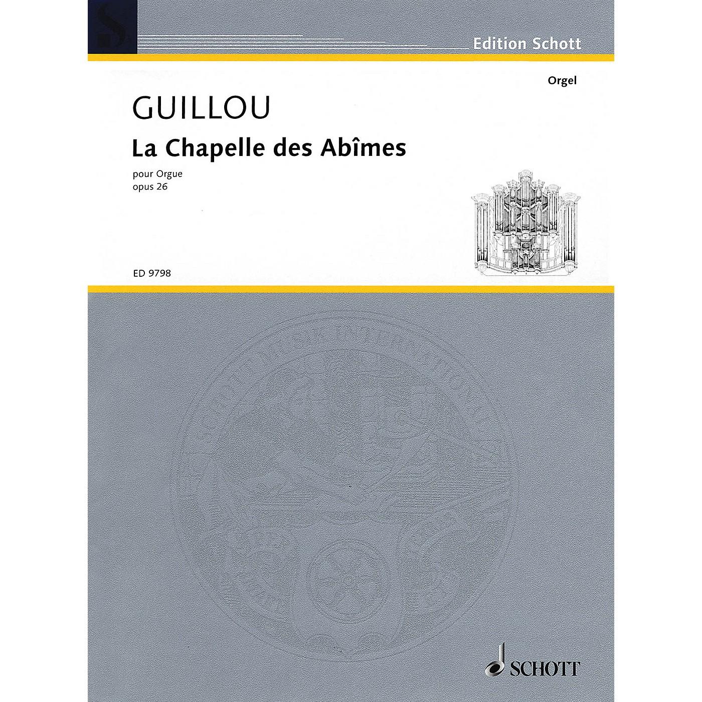 Schott La Chapelle des Abîmes Op. 26 (1973) Organ Schott Series Composed by Jean Guillou thumbnail