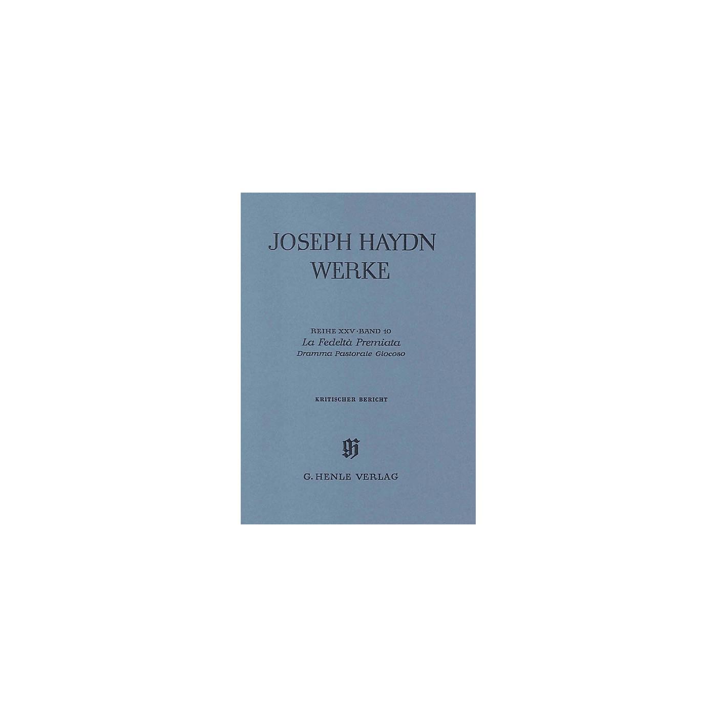 G. Henle Verlag La Fedeltà Premiata - Dramma Pastorale Giocoso, 2nd part Henle Edition Series Hardcover thumbnail