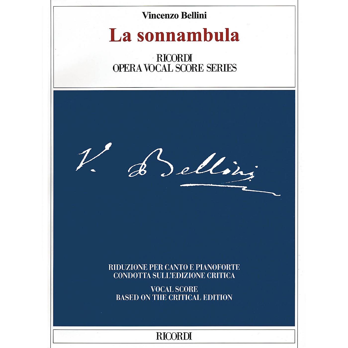Ricordi La sonnambula (Critical Edition Vocal Score) Opera Series Softcover  by Vincenzo Bellini thumbnail