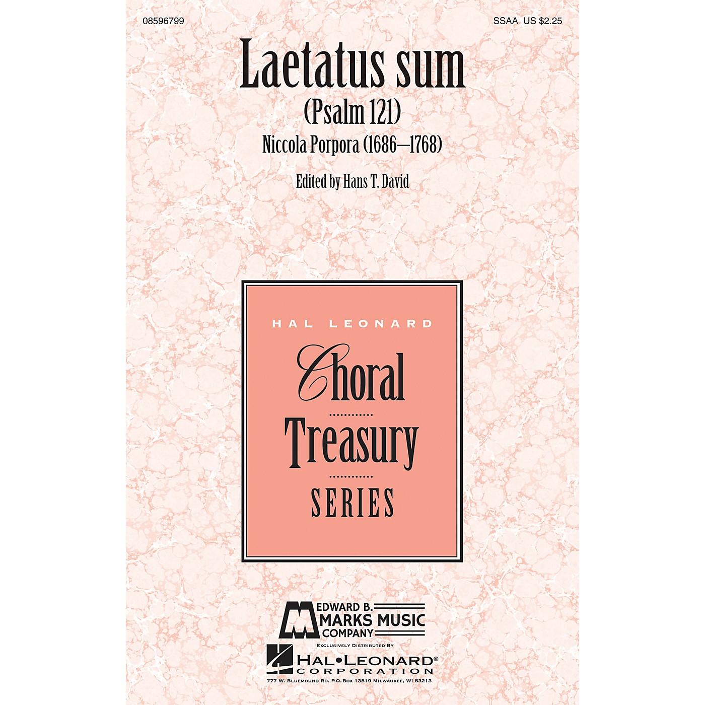 Edward B. Marks Music Company Laetatus Sum (Psalm 121) SSAA composed by Nicola Porpora thumbnail