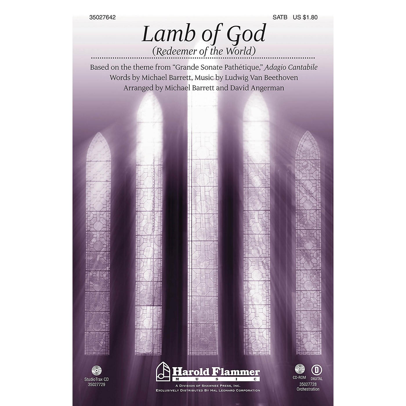Shawnee Press Lamb of God (Redeemer of the World) (Theme from Beethoven's Pathetique) ORCHESTRATION ON CD-ROM thumbnail
