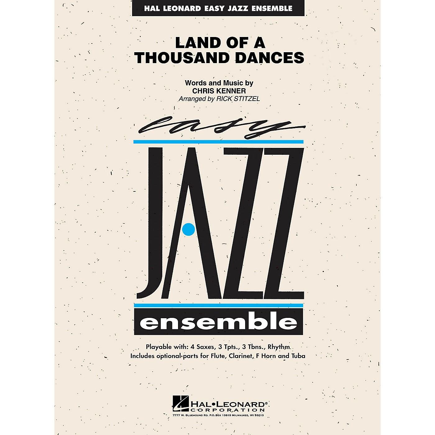 Hal Leonard Land of a Thousand Dances Jazz Band Level 2 Arranged by Rick Stitzel thumbnail