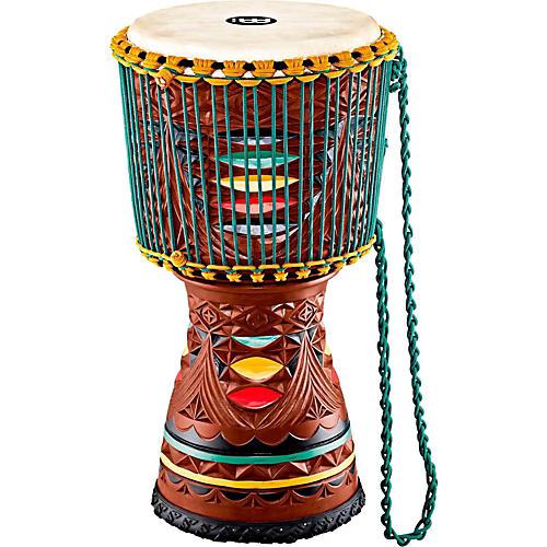 Meinl Large Artisan Edition Tongo Carved Mahogany Mali-Weave Djembe thumbnail