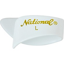 National Picks Large White Thumb Picks 1-Dozen