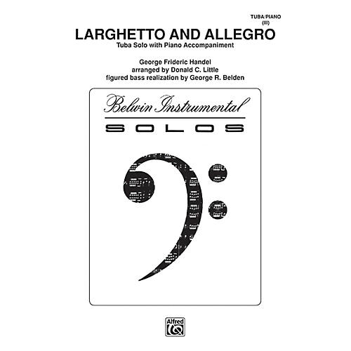 Alfred Larghetto and Allegro for Tuba By George Frideric Handel / arr. Donald C. Little Book thumbnail
