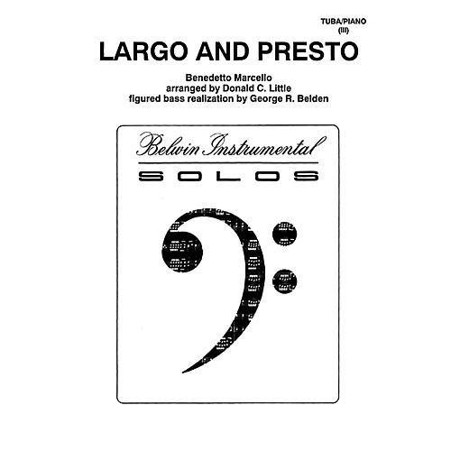 Alfred Largo and Presto for Tuba By Benedetto Marcello / arr. Donald C. Little Book thumbnail
