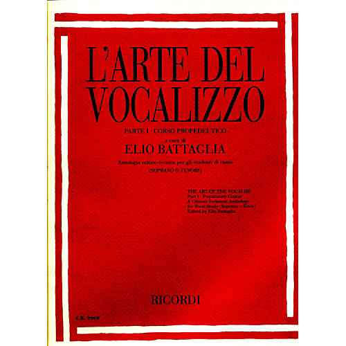 "Ricordi L'arte Del Vocalizzo The Art of the Vocalise "" Part I Soprano-tenor-thumbnail"