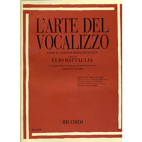 "Ricordi L'arte Del Vocalizzo The Art of the Vocalise "" Part II Soprano-tenor-thumbnail"