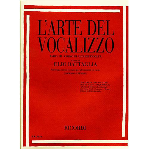 """Ricordi L'arte Del Vocalizzo The Art of the Vocalise """" Part III Soprano-tenor-thumbnail"""