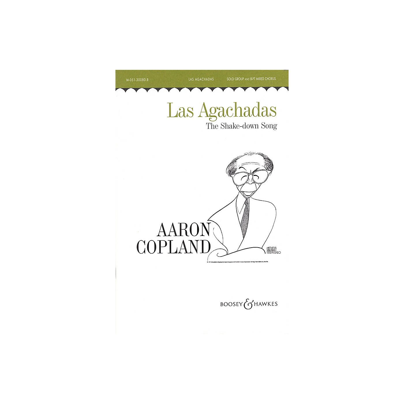 Boosey and Hawkes Las Agachadas (The Shake-down Song) SATB DV A Cappella composed by Aaron Copland thumbnail