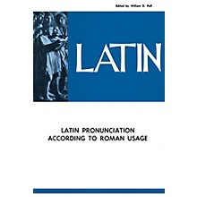 National Music Publishers Latin Pronunciation According to Roman Usage Book