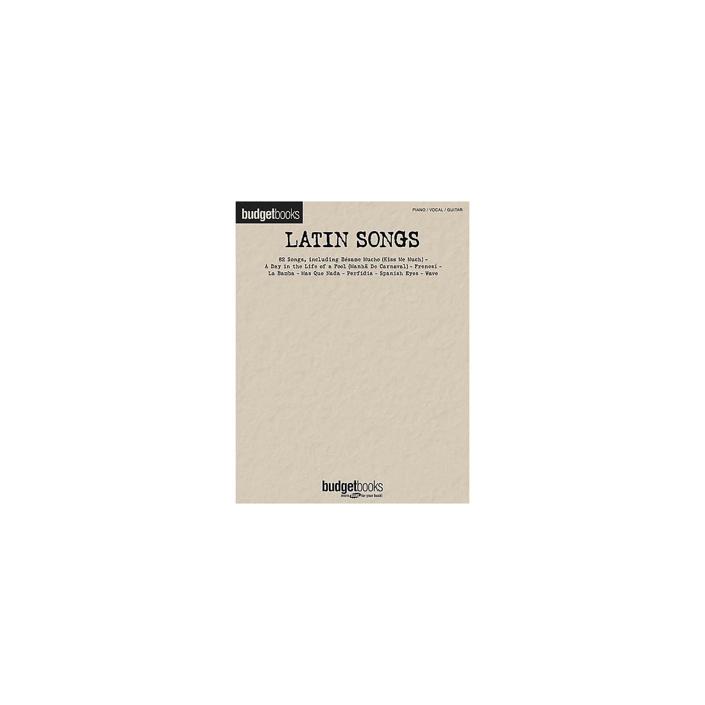 Hal Leonard Latin Songs Budget Piano/Vocal/Guitar Songbook thumbnail