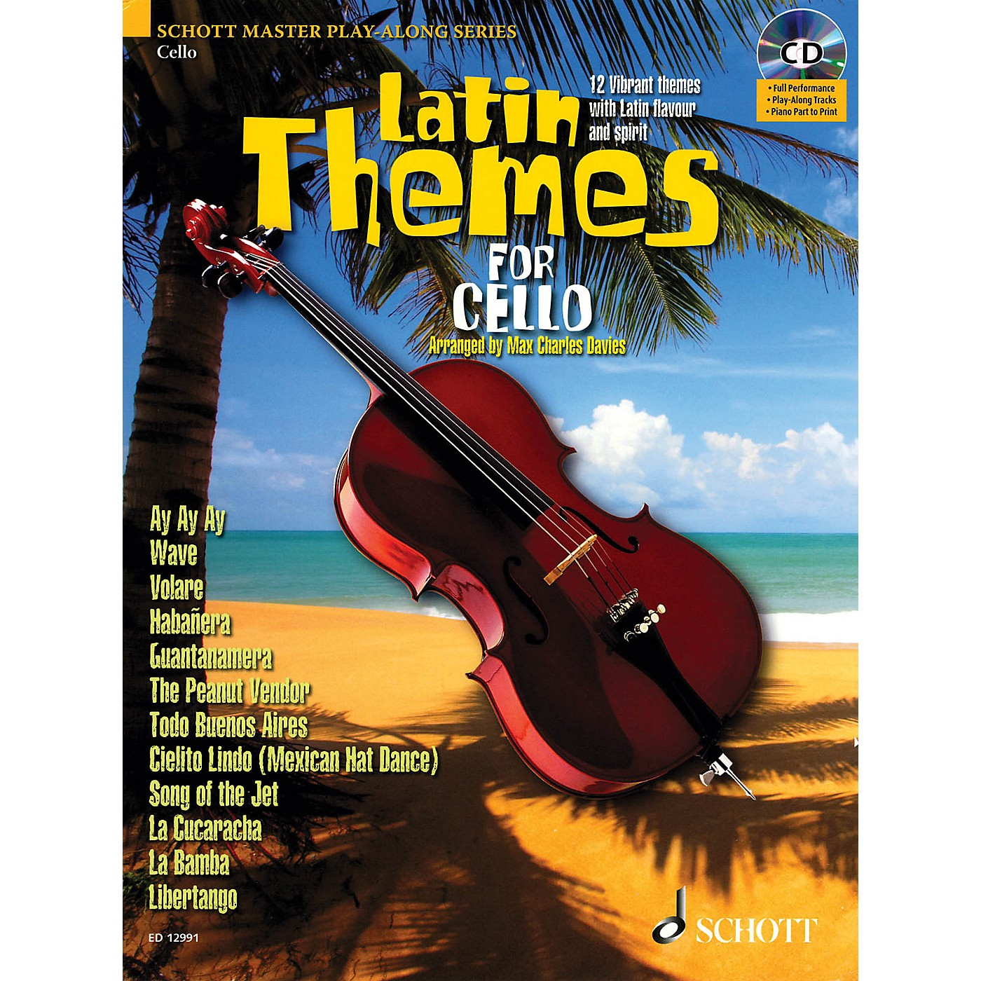 Schott Latin Themes for Cello (for Cello) Instrumental Play-Along Series Softcover with CD thumbnail