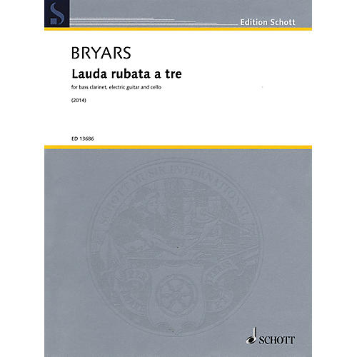 Schott Lauda rubata a tre Misc Series Softcover Composed by Gavin Bryars thumbnail