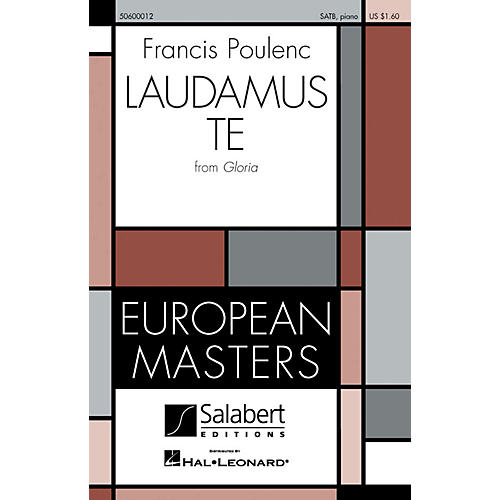 Editions Salabert Laudamus Te (from Gloria) SATB composed by Francis Poulenc thumbnail