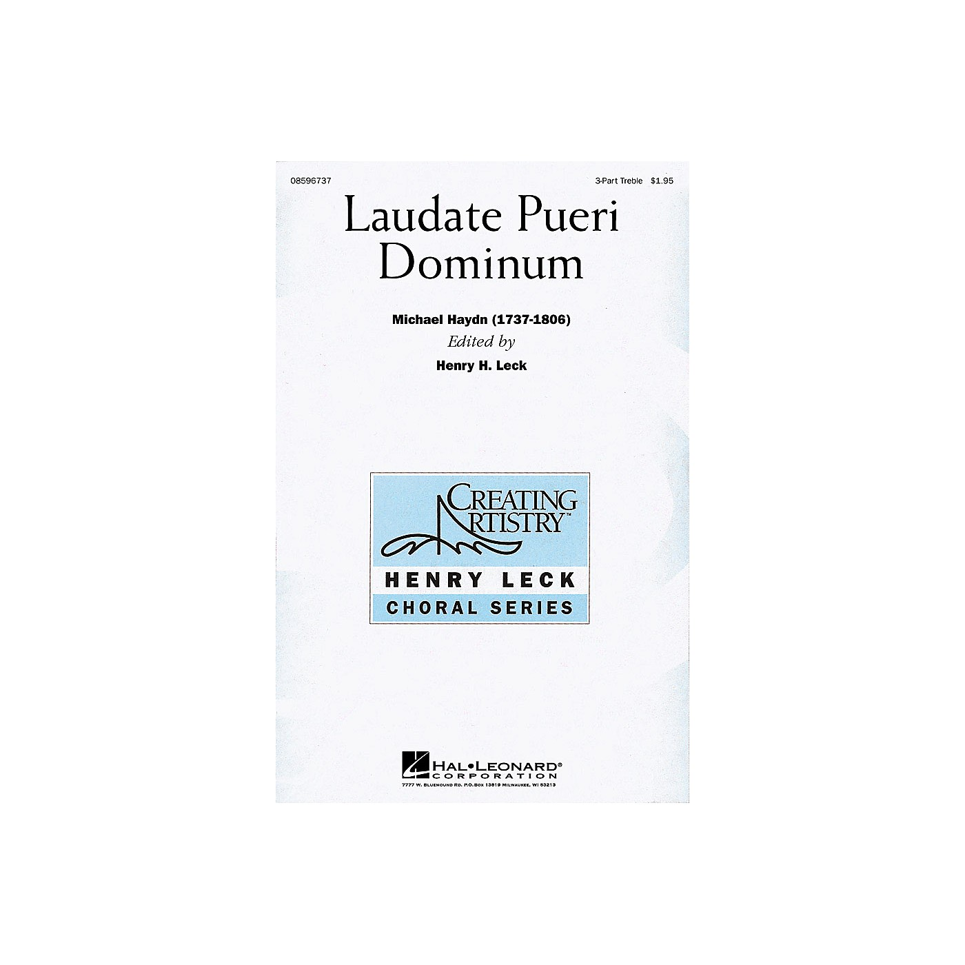 Hal Leonard Laudate Pueri Dominum (Lord, Now We Praise Your Name) (SSA) 3 Part Treble arranged by Henry Leck thumbnail