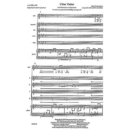 Transcontinental Music L'dor Vador (From Generation to Generation) SATB arranged by Joshua Jacobson thumbnail
