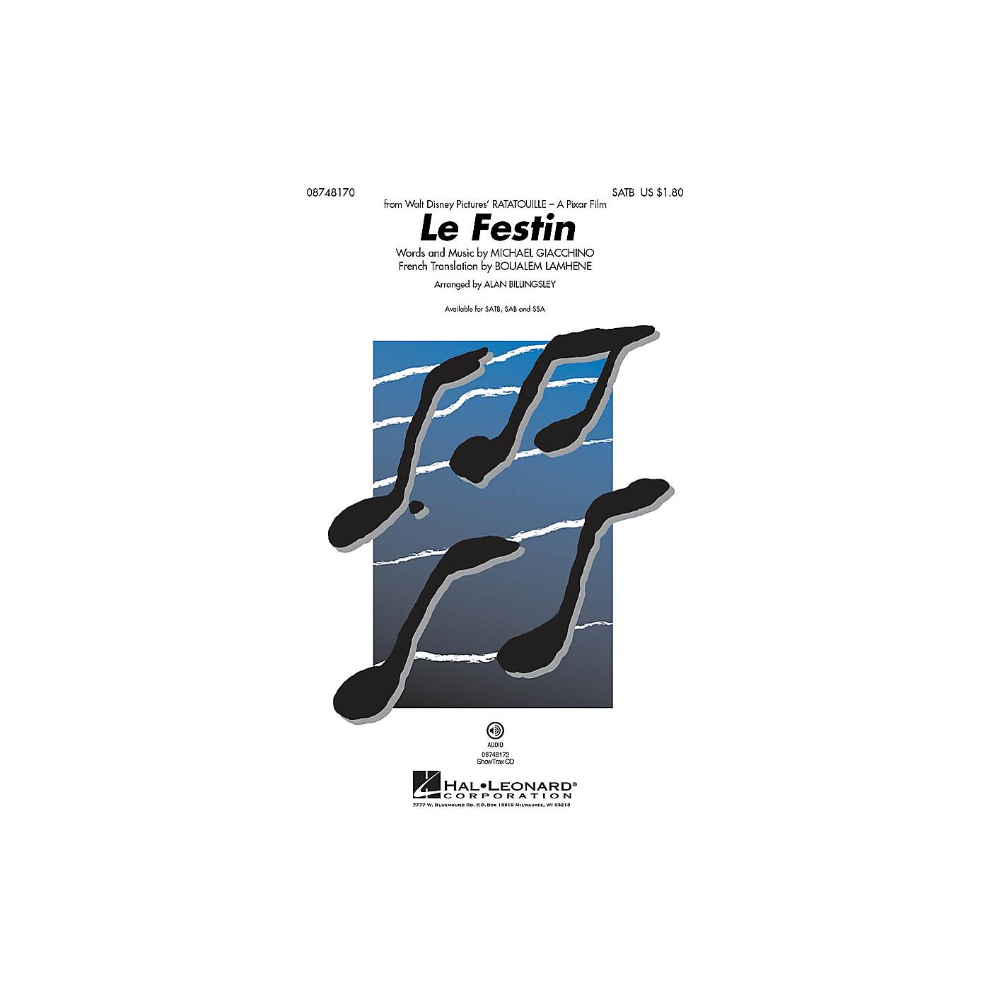 Hal Leonard Le Festin (from Ratatouille) ShowTrax CD Arranged by Alan Billingsley thumbnail