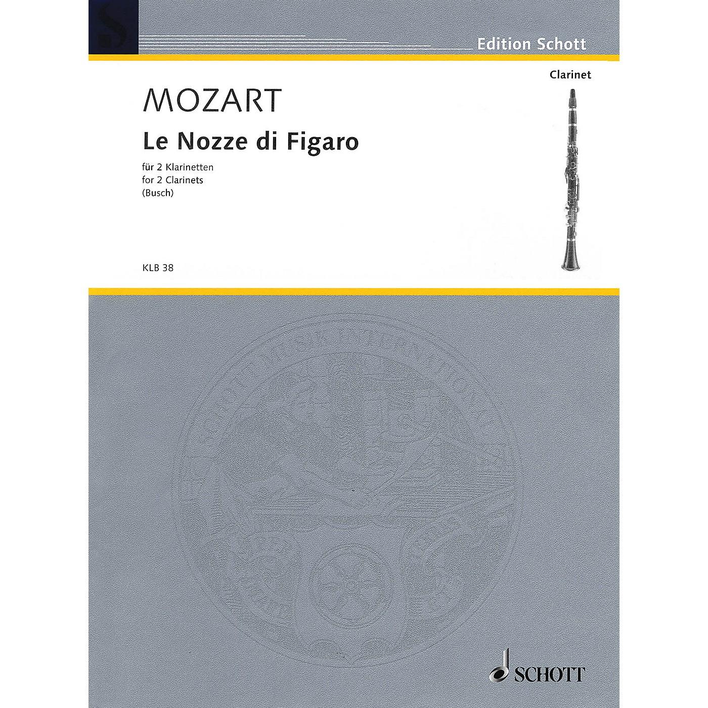 Schott Le Nozze di Figaro Schott Softcover Composed by Wolfgang Amadeus Mozart Arranged by Johann Georg Busch thumbnail