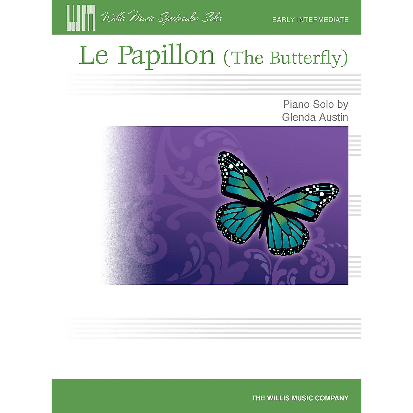 Willis Music Le Papillon (The Butterfly) Willis Series by Glenda Austin (Level Early Inter) thumbnail