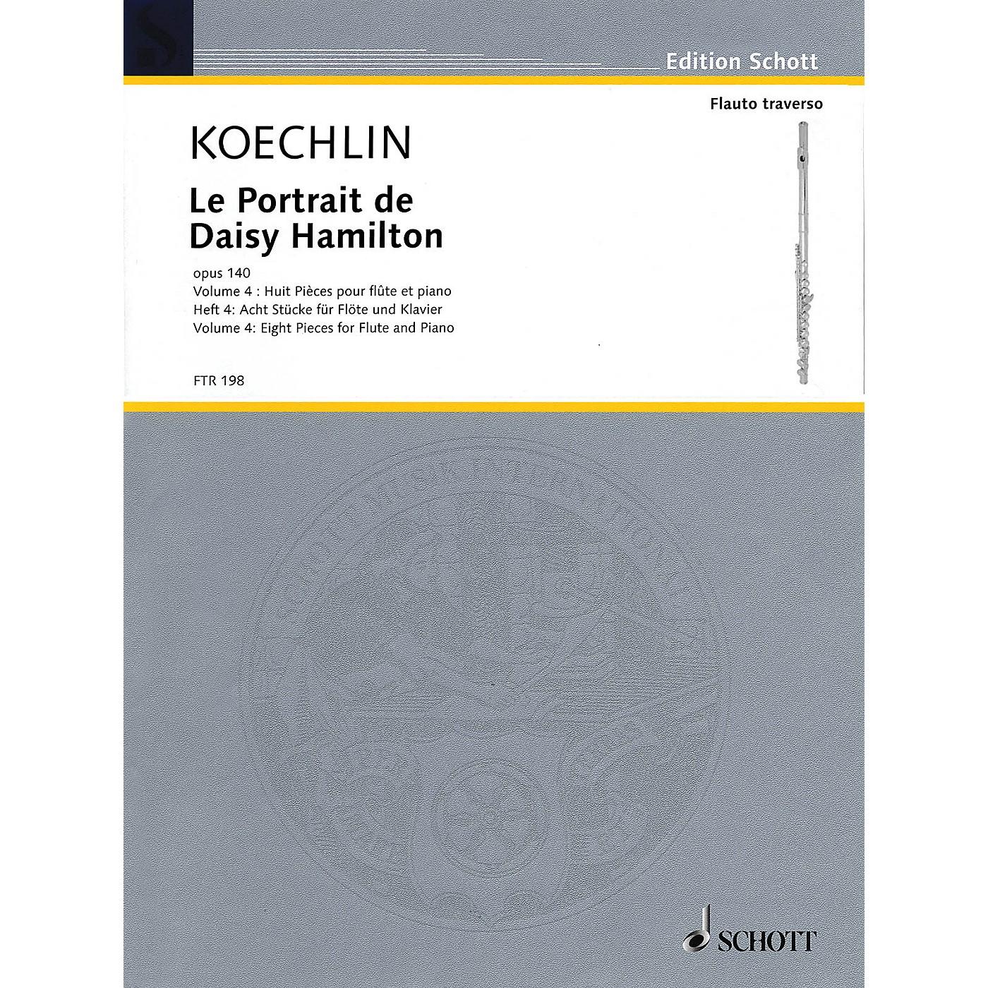 Schott Le Portrait de Daisy Hamilton, Op. 140 (Volume 4: Eight Pieces for Flute and Piano) Woodwind Solo Series thumbnail