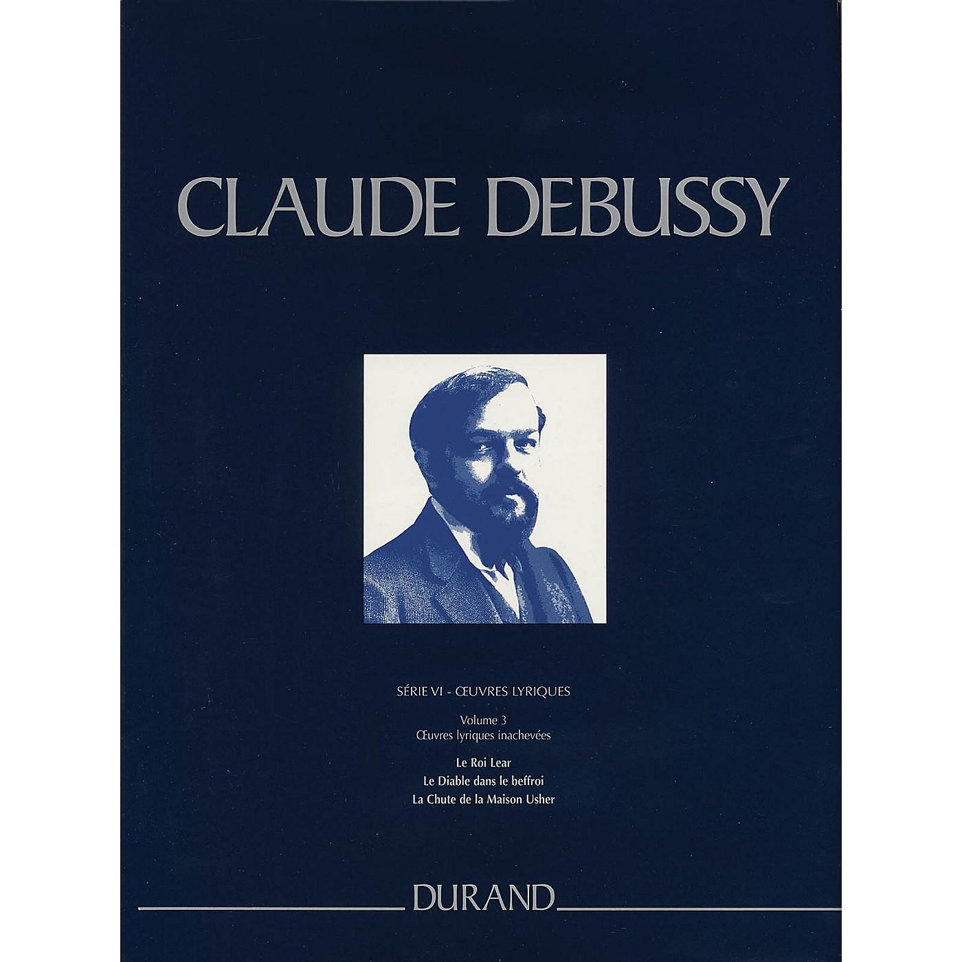 Editions Durand Le Roi Lear, Le Diable dans le beffroi, La Chute de la Maison Usher Critical Ed Full Score by Debussy thumbnail