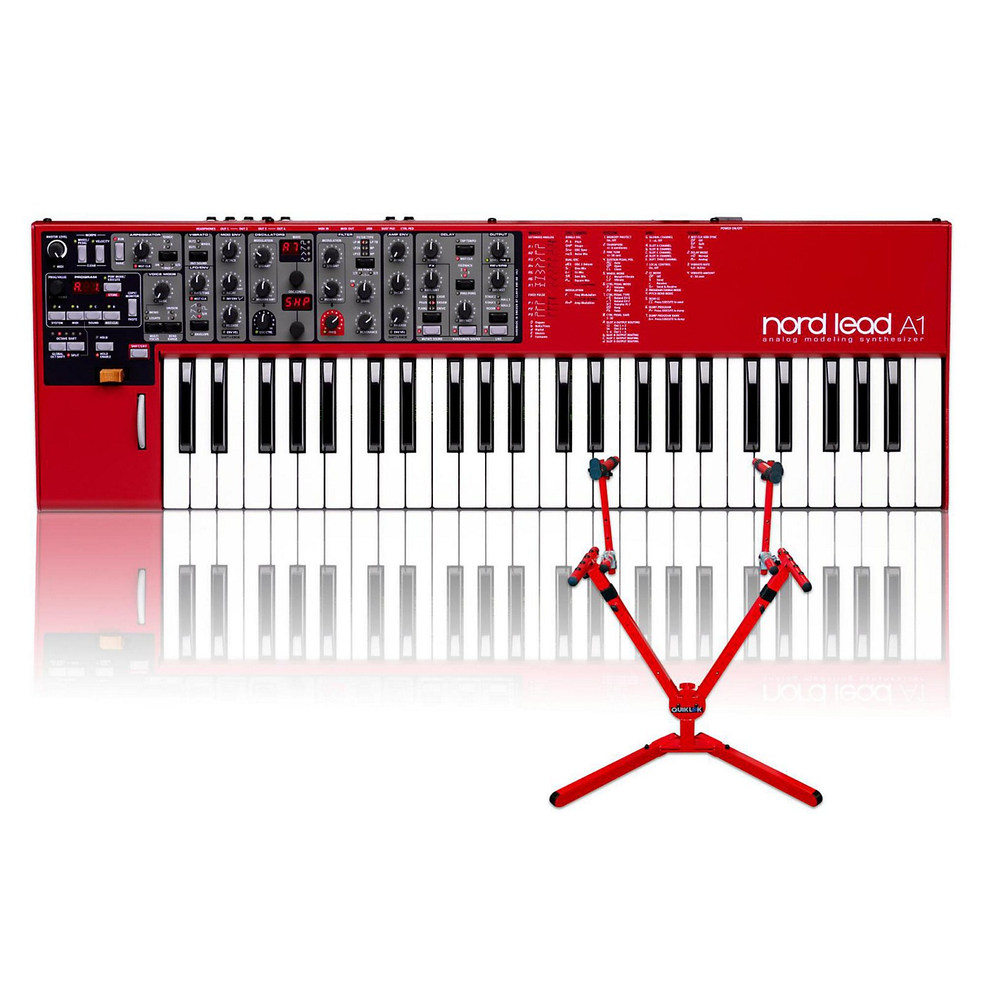 Nord Lead A1 with Matching 2-Tier Keyboard Stand thumbnail