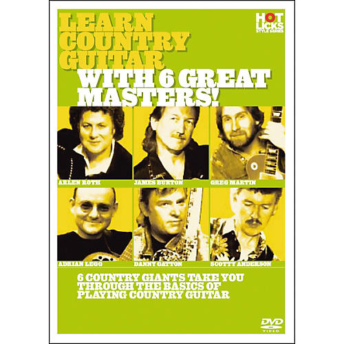 Hot Licks Learn Country Guitar with 6 Great Masters DVD-thumbnail
