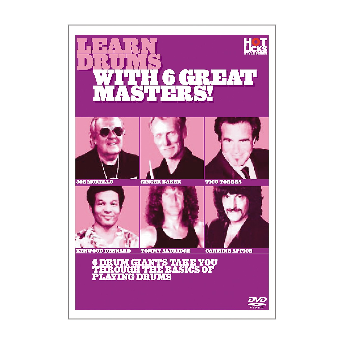 Hot Licks Learn Drums with 6 Great Masters DVD thumbnail
