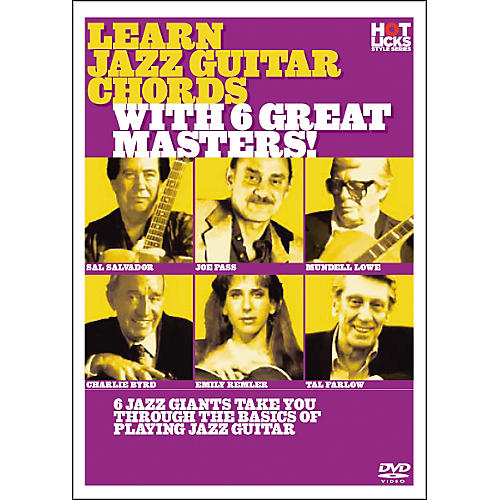 Hot Licks Learn Jazz Guitar Chords with 6 Great Masters thumbnail