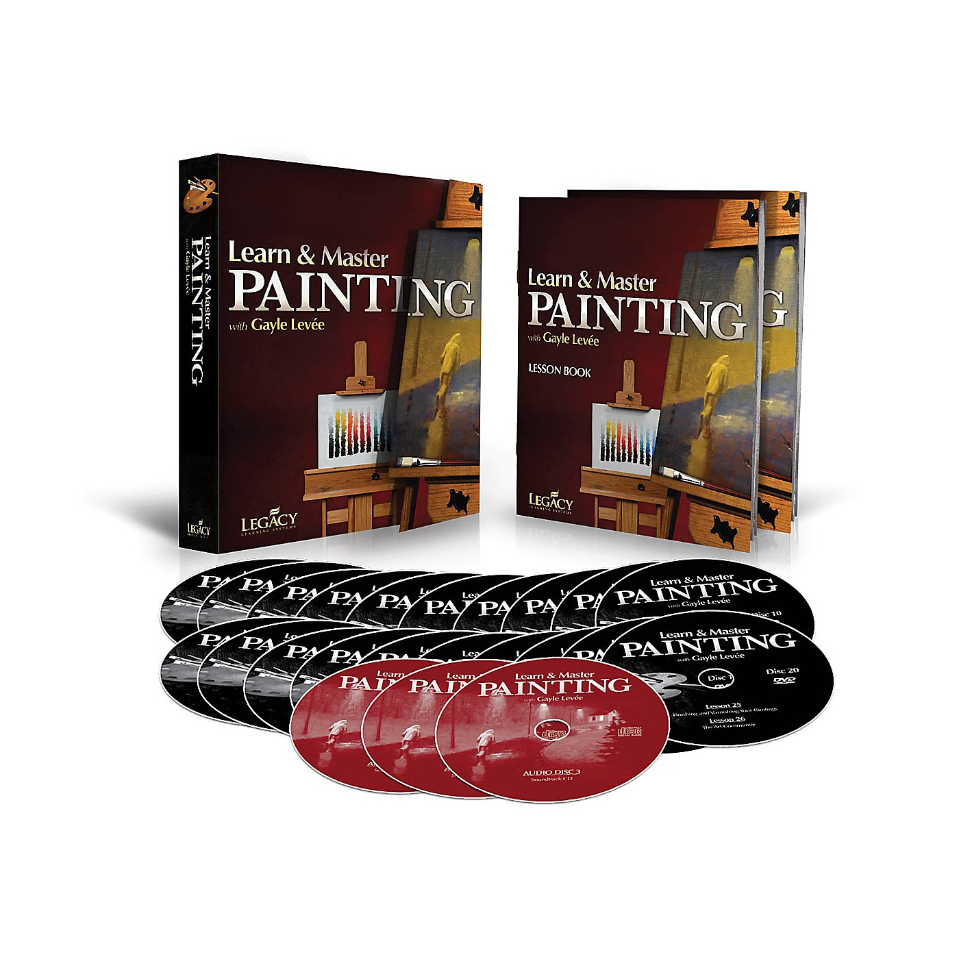 Legacy Learning Learn & Master Painting - Homeschool Edition (Book/3-CD/20-DVD Pack) DVD Series Written by Gayle Levée thumbnail